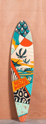 "Sector 9 40"" Island Time Longboard Deck - Orange"