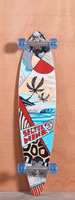 "Sector 9 40"" Island Time Red Longboard Complete"