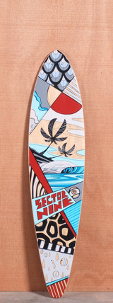 "Sector 9 40"" Island Time Longboard Deck - Red"