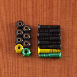 "Shake Junt Phillips 1"" Black/Green/Yellow Hardware"
