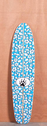 "Barfoot 40"" Fun Shape Floral Longboard Deck"
