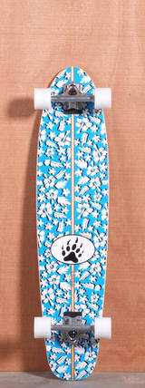 "Barfoot 40"" Fun Shape Floral Longboard Complete"