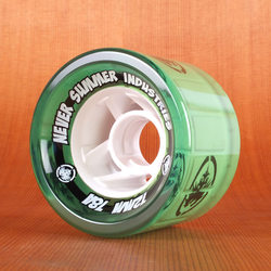Never Summer 72mm 78a Green Wheels