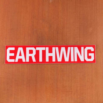 Earthwing Sticker Big Red