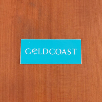 GoldCoast Sticker Teal Logo