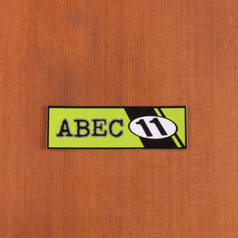 Abec11 Sticker Lime Green Rectangle With Stripes