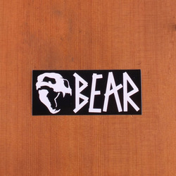 Bear Sticker Skull With Script