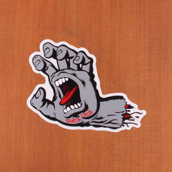 Santa Cruz Sticker Screaming Hand Grey