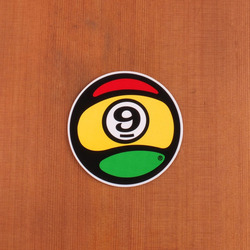 "Sector 9 Sticker 4"" Rasta Round"