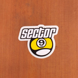 "Sector 9 Sticker 4"" Letters above Nineball"