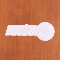 "Sector 9 Sticker 7"" Script With Nineball White"