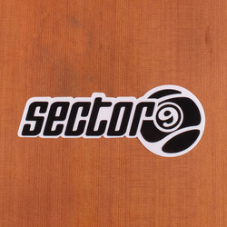 "Sector 9 Sticker 7"" Script With Nineball Black"