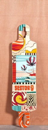 "Sector 9 40.5"" Paradiso Longboard Deck - Red"