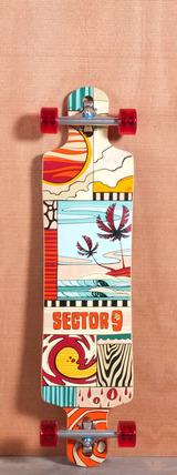 "Sector 9 40.5"" Paradiso Longboard Complete - Red"