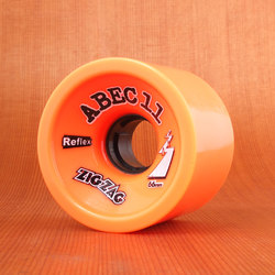 Abec11 ZigZags 66mm 89a Wheels - Orange Plus