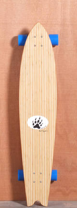 "Barfoot 44"" Swallowtail Bamboo Longboard Complete"