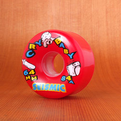 Seismic Cry Baby 64mm 84a Red Wheels