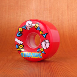 Seismic Cry Baby 60mm 84a Red Wheels