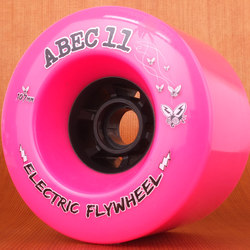 Abec11 Electric Flywheels 107mm 77a Wheels - Pink