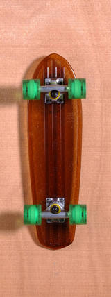 "Globe 24"" Bantam Clear Skateboard Complete - Brown/Green"