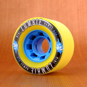 Hawgs Mini Zombie 70mm 82a Wheels - Yellow