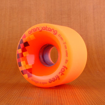 Orangatang Fat Free 65mm 80a Wheels - Orange