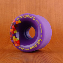 Orangatang 65mm 83a Fat Free Purple Wheels
