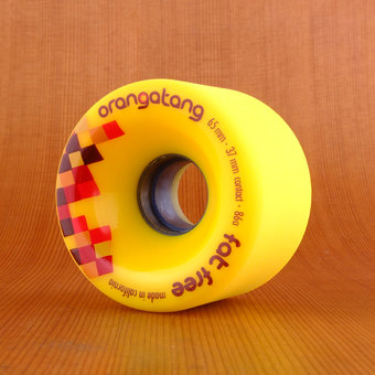 Orangatang Fat Free 65mm 86a Wheels - Yellow