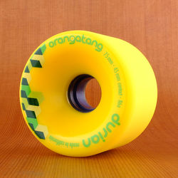 Orangatang 75mm 86a Durian Yellow Wheels