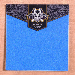 "Hammer 11"" x 11"" Grip, 4 Sheets - Blue"