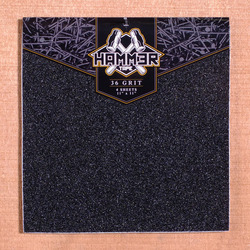 "Hammer 11"" x 11"" Grip, 4 Sheets - Black"