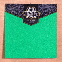 "Hammer 11"" x 11"" grip, 4 Sheets - Green"