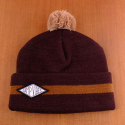 Poler Rainier Vibes Beanie - Dark Brown