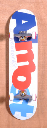 "Almost Pop Art 8.25"" Skateboard Complete - White"