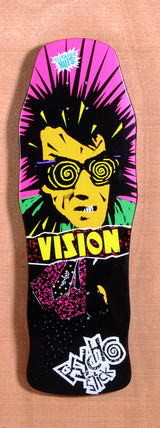 "Vision 30"" Psycho Stick Black Skateboard Deck"