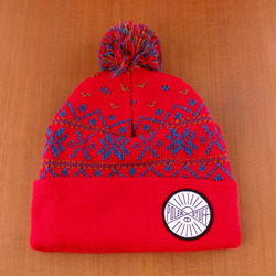 Poler Squirrel Beanie - Dark Red