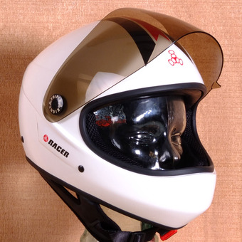 Triple 8 Racer Downhill Helmet - White