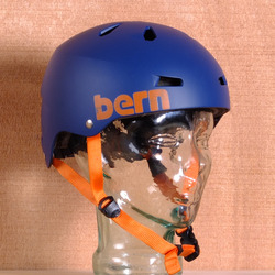 Bern Macon Hard Hat Helmet - Matte Blue
