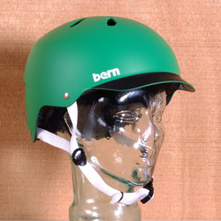 Bern Watts Hard Hat Helmet - Green Matte