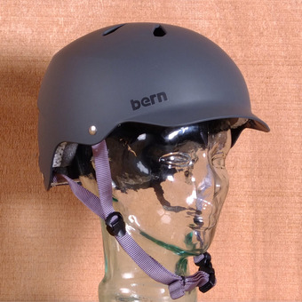 Bern Watts Hard Hat Helmet - Grey Matte