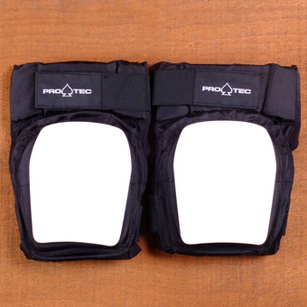 Pro Tec Park Knee Pads - Black/White