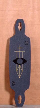"GoldCoast 40"" Serpentagram Longboard Deck - Black"