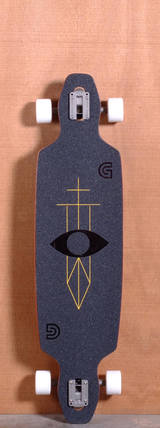 "GoldCoast 40"" Serpentagram Longboard Complete - Black"