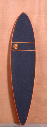 "GoldCoast 44"" Classic Floater Longboard Deck - Orange"