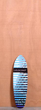 "GoldCoast 24"" Conflict Longboard Deck - Blue"