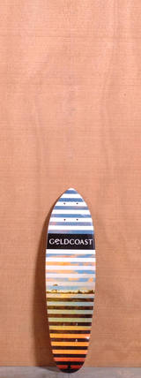 "GoldCoast 24"" Conflict Longboard Deck - Red"