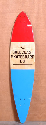 "GoldCoast 44"" Standard Longboard Deck - Red"