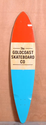 "GoldCoast 44"" Standard Longboard Deck - Orange"