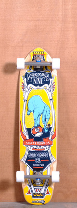 "Sector 9 37.5"" Mini Daisy Longboard Complete - Yellow"