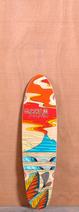 "Sector 9 31.5"" Lava Flow Longboard Deck - Red"